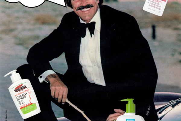 Tom Selleck and lotion for dads